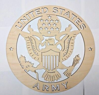 US ARMY wall art Laser cut sign gift idea ARMY Unfinished Wood Crafts Supplies   - Unfinished Wood Signs