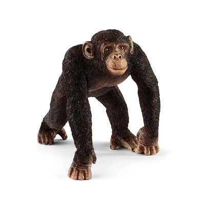 Schleich 14817 Chimpanzee Male Toy Animal Figurine Model 2018 - NIP