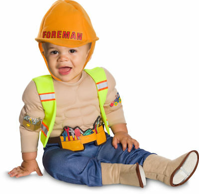 Rubies Lil Construction Worker Foreman Infant Toddler Halloween Costume 510531](Construction Worker Toddler Halloween Costumes)