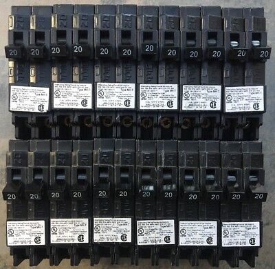 12 Pcs Murray Crouse-hinds Mp2020n Circuit Breaker 20a 2 1pole New