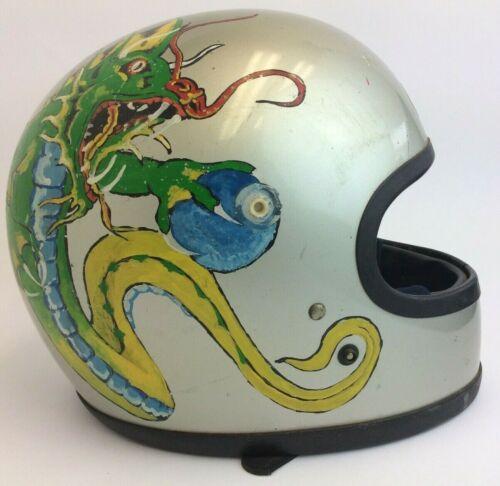 Decorative Hand Painted Dragon Vintage Used Shoei Motorcycle S-42 Helmet Japan