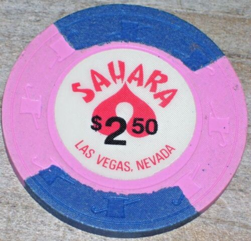 $2.50 15TH EDT GAMING CHIP FROM THE SAHARA CASINO LAS VEGAS