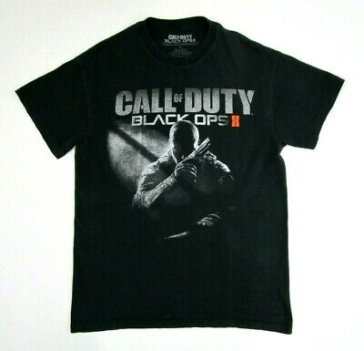 Black Ops Costumes (Call of Duty Black Ops II Mens Size M Black Cotton Tshirt video gaming)