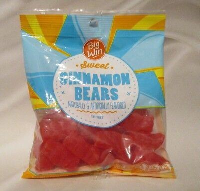 **NEW**- BIG WIN Cinnamon Gummi Bears Candy/Candies- {7 ounce bag} *FRESH*  ()