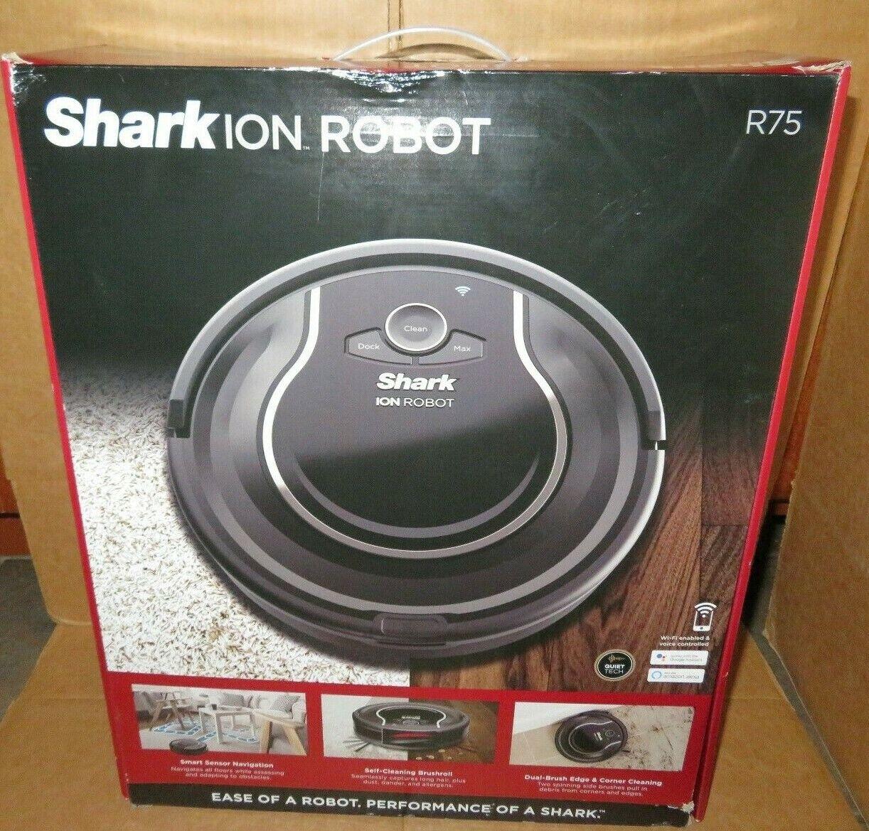 Shark - ION ROBOT 750 App-Controlled Robot Vacuum - Gray