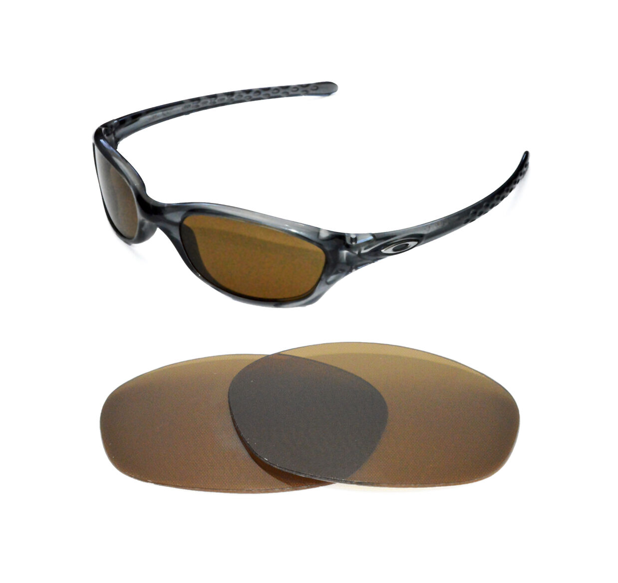 2b6f72ca32b Details about NEW POLARIZED BRONZE REPLACEMENT LENS FOR OAKLEY FIVES 2.0  SUNGLASSES
