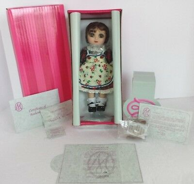 "COA #698 NEW AND NRFB MARIE OSMOND ADORA SCHOOL BELLE 9"" PORCELAIN DOLL"