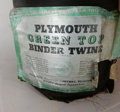 Vintage Plymouth Cordage Green Top Sisal Binder Twine, Made USA