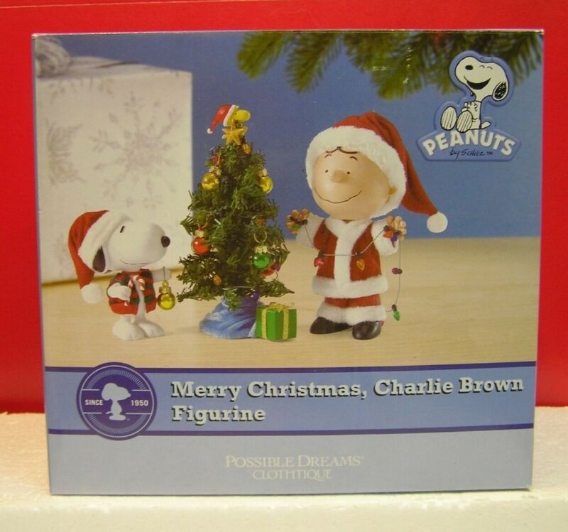 Peanuts Dept 56 Snoopy Merry Christmas Charlie Brown Possible Dreams Figure MIB