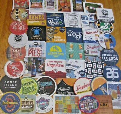 50 New US Microbrew & Major Beer Coasters! No Dupes! Save on Lots! Only $15.99!