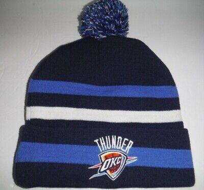 0cf75af61ac27b Oklahoma City Thunder Authentic Cuffed Beanie / Toque / Knit Hat With Pom  NWT