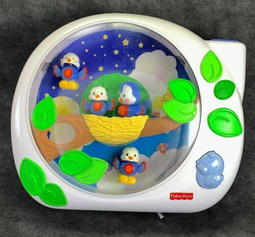 Fisher Price G2623 Flutterbye Dreams Lullaby Birdies Musical Crib Projector Toy