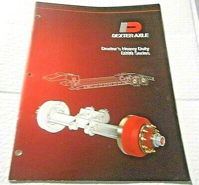 2001 Dexter Heavy Duty D200 Series Axles Catalog 33 Pages