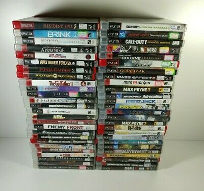Sony PS3 PlayStation 3 Games U Pick Choose Complete Fun Rare Action Family