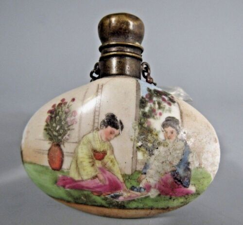 China Chinese Famille Rose Porcelain Snuff Bottle Qing Dynasty ca. 19-20th c.