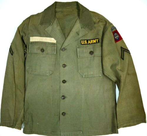Vintage Military HBT Shirt/Jacket Korean War US Army Air Force Airborne 50s