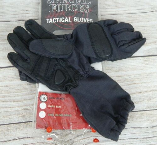 Rothco Tactical Forces Made with Kevlar Black Duty Gloves Cut Resistant Sz Med