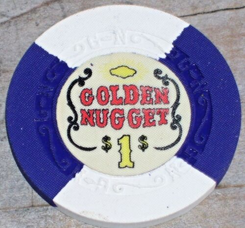 $1 NEW CONDITION GAMING CHIP FROM THE GOLDEN NUGGET CASINO, LAS VEGAS NV R5