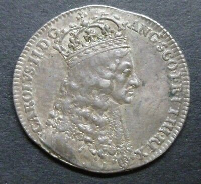 Charles II Official Royal Mint Silver Coronation Medallion 1661 By T.Simon Rare