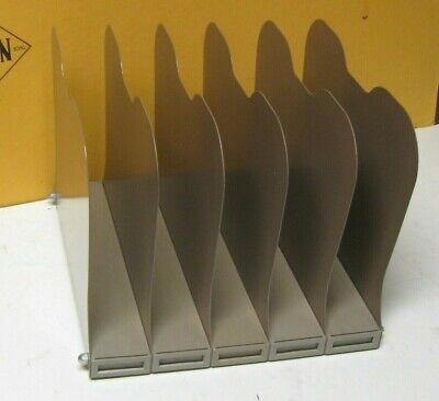 Vintage Art Steel Co. 5 Slot Desktop File Sorter Organizer Clean Ready Excellent