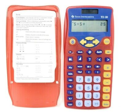Texas Instruments TI-10 Red Solar Basic Calculator School