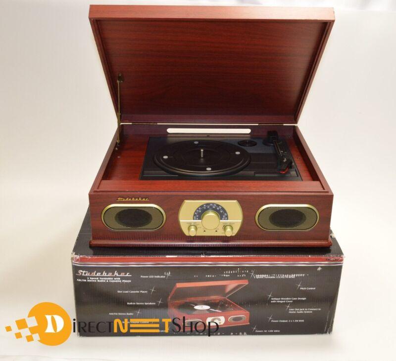 Studebaker 3-Speed Turntable Brown SB6052