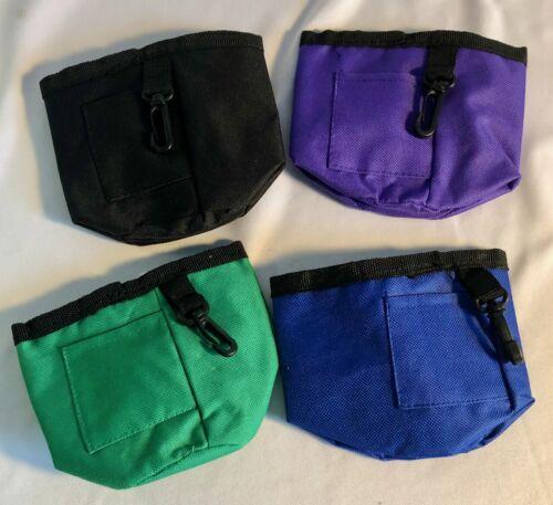 Perky Pet Drawstring Pet Dog Training Treat Container Bag - New
