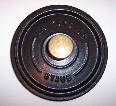 """#12 Black Replacement 4 5/8"""" Lid ONLY for La Cocotte Staub Made in France"""