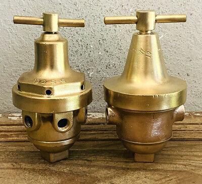 Dated 18951901 2 Vintage Brass Heavy Gauge Valve Steampunk Pressure Regulator