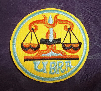- LIBRA PATCH ASTROLOGICAL SIGN ZODIAC SIGN HOROSCOPE ASTROLOGY SEW/ IRON DIY