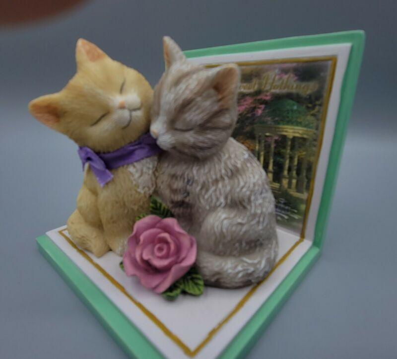 """Thomas Kinkade 2011 """"Whiskers of Sweet Nothings""""  Kittens"""