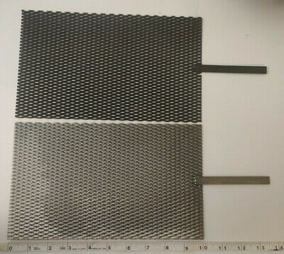 Mmo Mesh Anode Titanium Mesh Cathode Set 6 By 10 With Stem Handle