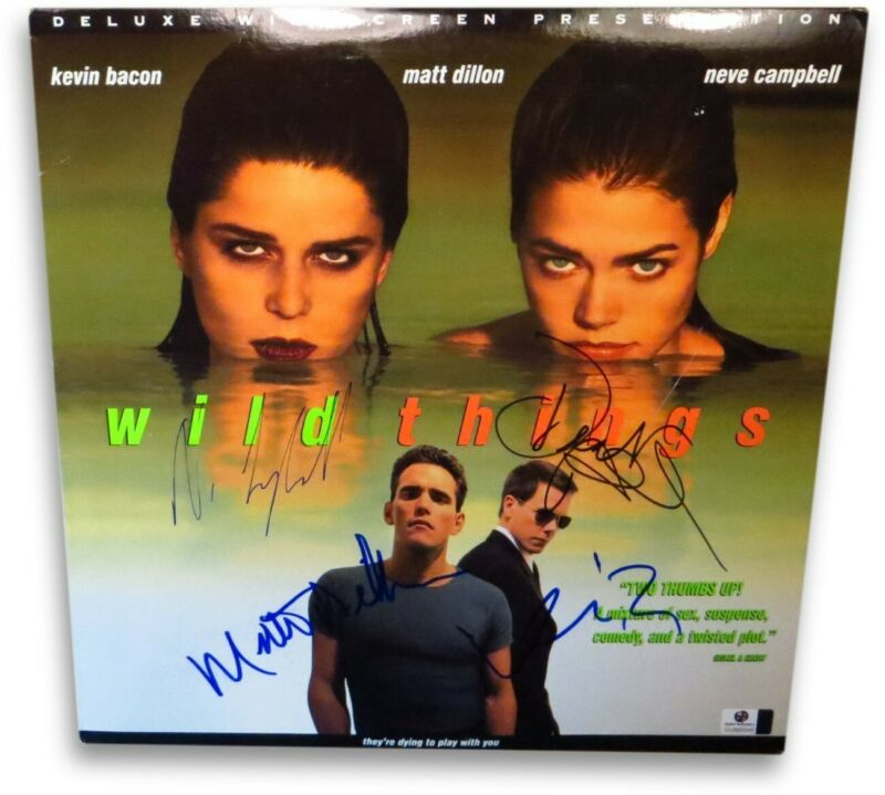 Wild Things Cast Signed Laserdisc Cover Campbell Richards Dillon Bacon GV865045