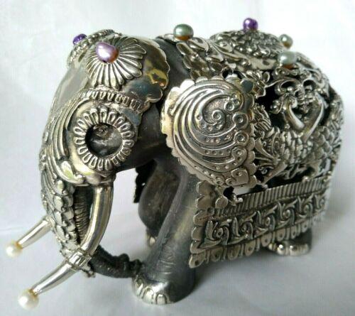 Hand Made Lavishly decorated Perahera Elephant Figurine Lucky Home décor Gift