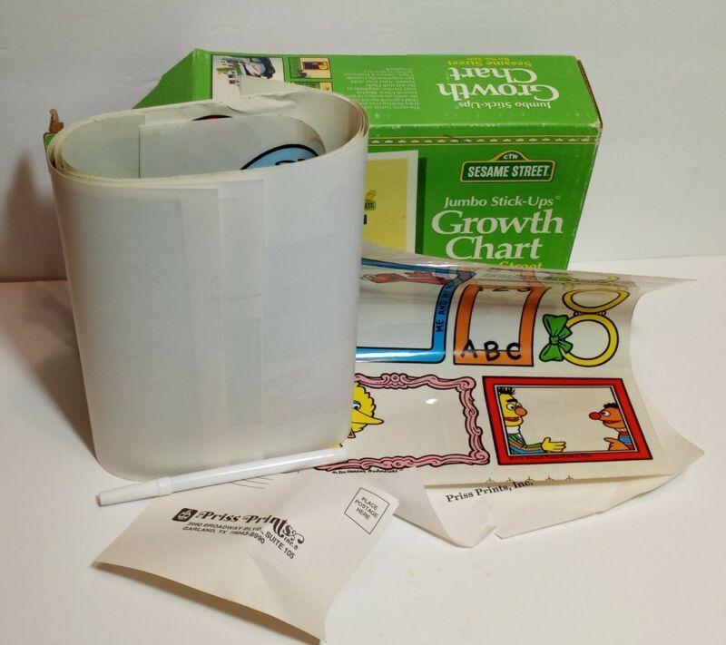 Vintage Sesame Street 9207Jumbo Stick-ups Growth Chart Removable reusable vtg