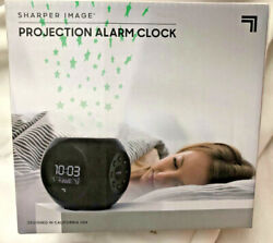 Sharper Image Sound Machine Projection Alarm Clock Stars Soothing Sounds
