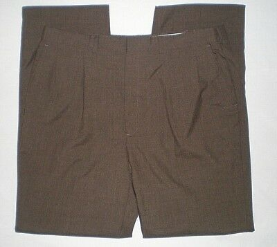 Tri-blend Pants (Bardstown Mens Brown Black Tri Blend Pleated Dress Pants Size 40W x 34L)