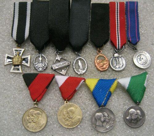 /German Mini Size Medals lot of 11,pins post ww2 iss.