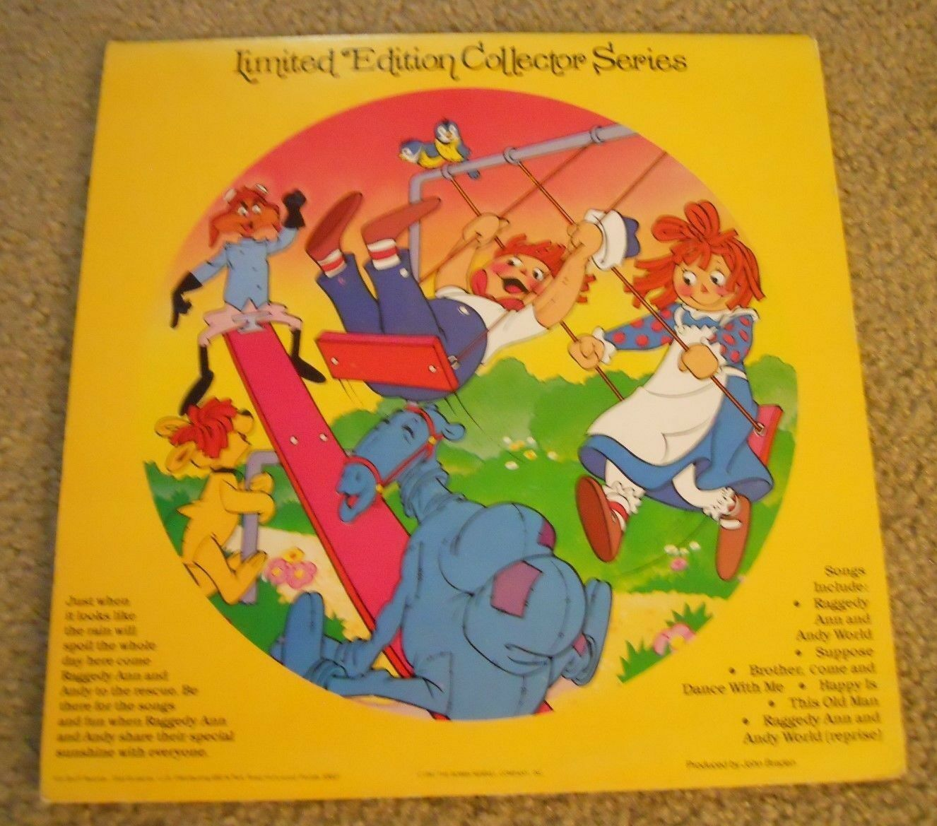 RAGGEDY ANN ANDY HAPPINESS ALBUM 12 VINYL PICTURE DISC/KPD 6001 EX /VG  - $12.00