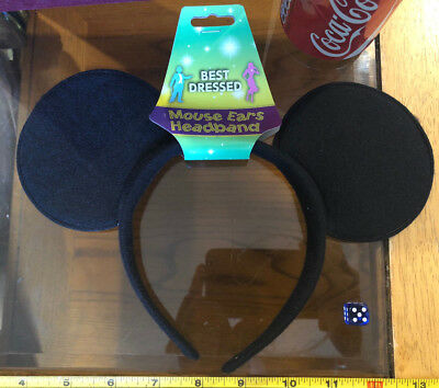 Mouse Ears Black Head Band Fancy Dress Up Outfit New Best Dressed