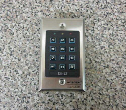 Securitron Assa-Abloy DK-12 12-Key Illuminated Digital Keypad Used Free Shipping
