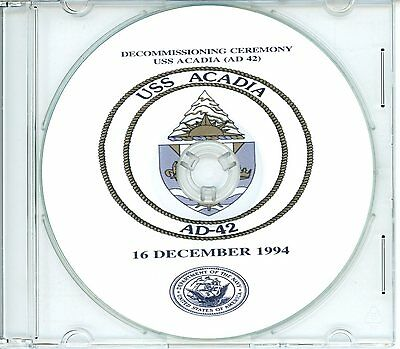 USS Acadia AD 42 Decommissioning Program 1994 on CD Navy