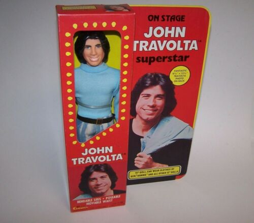 "On Stage John Travolta Superstar 12"" Doll Bendable Legs Poseable Movable Waist"