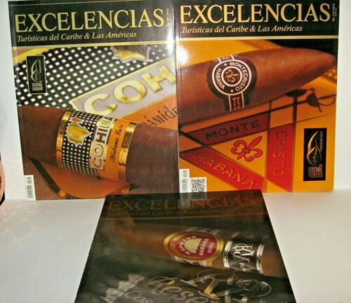 Cuban set 3  tobacco magazine specializing the world of cigar Havana Collectible