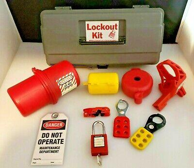Portable Lockout Kit Electrical Valve Lockout 10 Pc