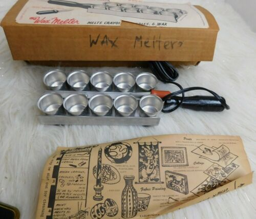 RABINOWITZ THE WAX MELTER 10 CUP ELECTRIC HEATED CRAFT TOOL VINTAGE NEW