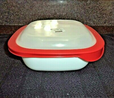 Corning Ware Simply Lite 1.5 Qt Square Baking Casserole Dish w/Plastic Lid, New!