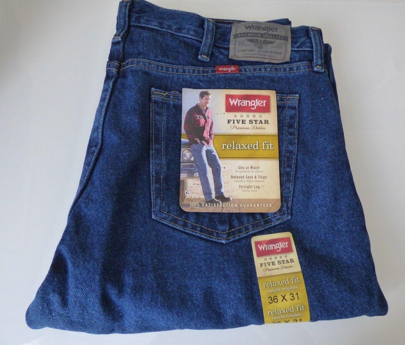 bfd9e5fd Mens Wrangler 5 Star Relaxed Fit Jeans Premium Denim · $29.99 · Jeans
