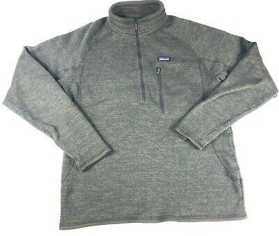 Patagonia Men's Better Sweater Fleece Pullover Large Brown 1/4 Zip