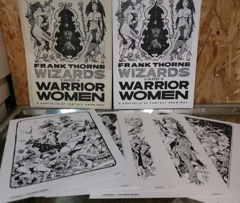 1978 FRANK THORNE Signed/Numbered Wizards and Warrior Women Portfolio # 077/1000